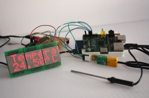 Photo:  Using the WiringPi library to control an LED display and Thermocouple interface